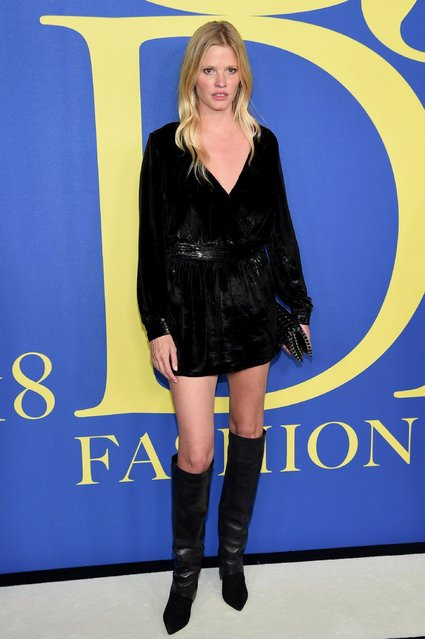 Lara Stone attends the 2018 CFDA Fashion Awards at Brooklyn Museum on June 4, 2018 in New York City. (Photo by Dimitrios Kambouris/Getty Images)