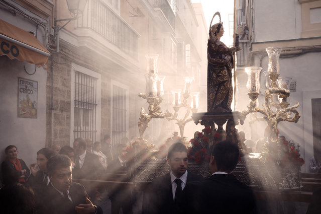 """Ave Maria"". Religious procession in Cadiz. Location: Cadiz, Spain. (Photo and caption by Evgeny Surgutsky/National Geographic Traveler Photo Contest)"