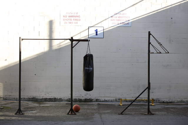Exercise equipment is seen in a yard outside the East Block for condemned prisoners during a media tour of California's Death Row at San Quentin State Prison in San Quentin, California December 29, 2015. (Photo by Stephen Lam/Reuters)