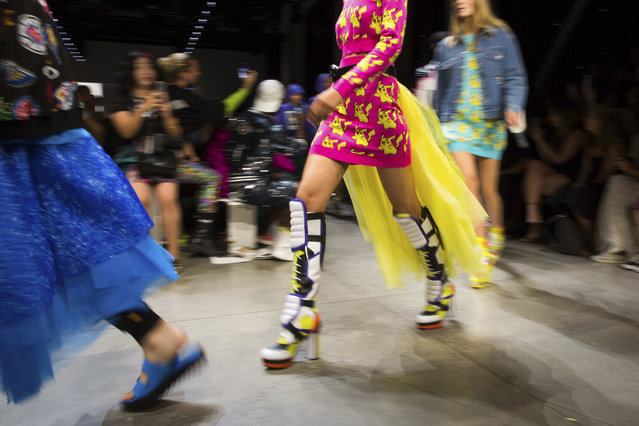 Jeremy Scott's spring 2019 collection is modeled during Fashion Week in New York, Thursday, September 6, 2018. (Photo by Kevin Hagen/AP Photo)