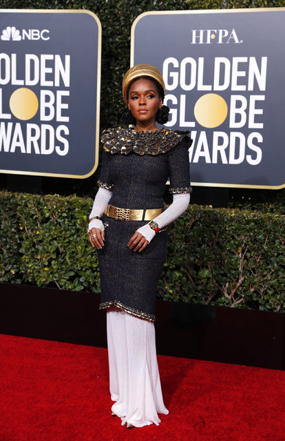 Janelle Monae arrives at the 76th annual Golden Globe Awards at the Beverly Hilton Hotel on Sunday, January 6, 2019, in Beverly Hills, Calif. (Photo by Mike Blake/Reuters)
