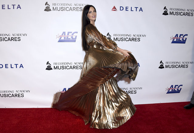 Kacey Musgraves arrives at MusiCares Person of the Year honoring Dolly Parton on Friday, February 8, 2018, at the Los Angeles Convention Center. (Photo by Jordan Strauss/Invision/AP Photo)