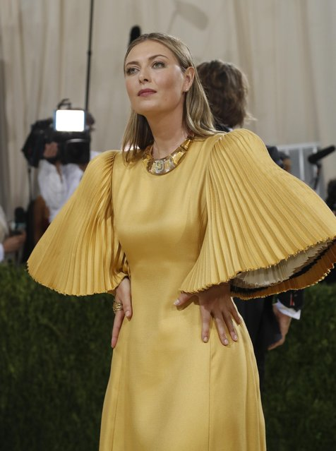 Russian former world No. 1 tennis player Maria Sharapovaattends The 2021 Met Gala Celebrating In America: A Lexicon Of Fashion at Metropolitan Museum of Art on September 13, 2021 in New York City. (Photo by Mario Anzuoni/Reuters)