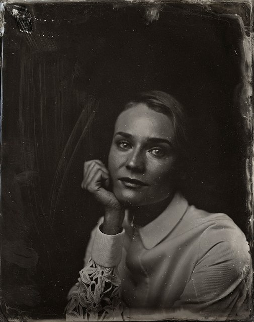 Diane Kruger poses for a tintype (wet collodion) portrait at The Collective and Gibson Lounge Powered by CEG, during the 2014 Sundance Film Festival in Park City, Utah. (Photo by Victoria Will/AP Photo/Invision)