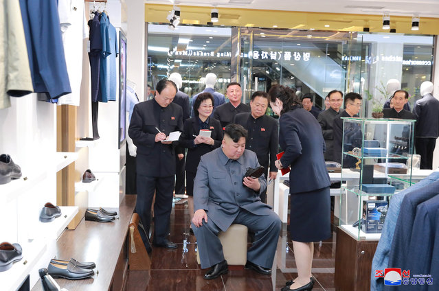 North Korean Leader Kim Jong Un visits Taesong Department Store just before its opening, in this photo released on April 8, 2019 by North Korea's Korean Central News Agency (KCNA). (Photo by KCNA via Reuters)