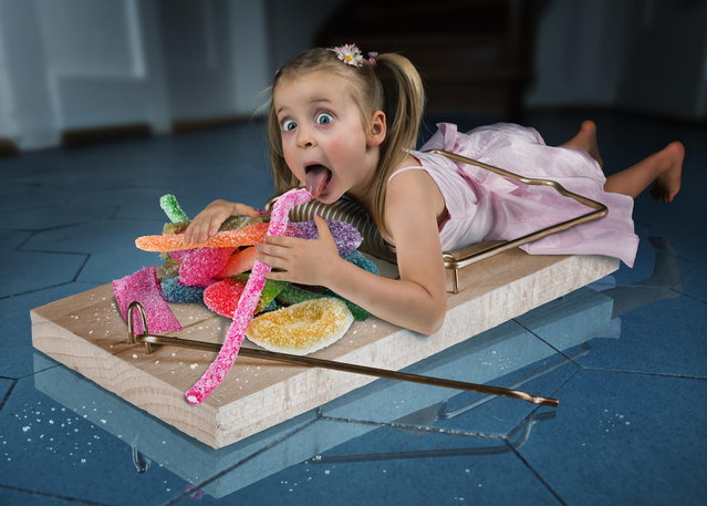 """My 5 year old daughter Lou started to sneak into the kitchen to steal sweets from the cupboard… so we had to do something :)"". (John Wilhelm)"