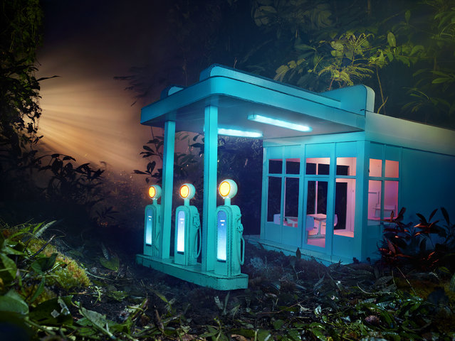 David LaChapelle, Gas 76, 2013, chromogenic print, 50 x 66 3/4 inches, 127 x 169.5 cm, edition of 3. Image courtesy of the artist and Paul Kasmin Gallery. (Photo by David LaChapelle Studio)