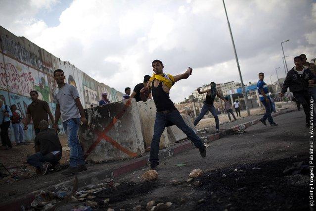 Clashes In Qalandia Ahead Of Mahmoud Abbas' UN Address