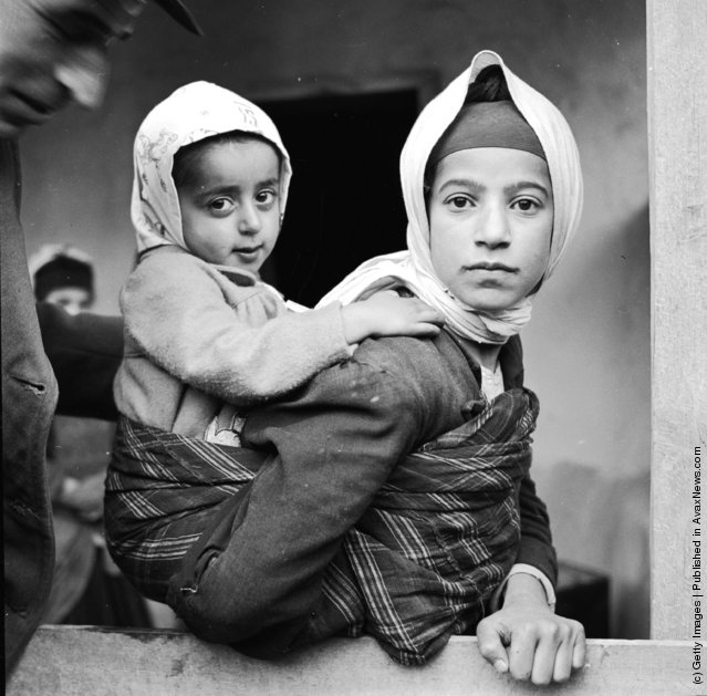 1952:  A young mother and child from the Mazanderan province in northern Iran near the Caspian Sea and the Russian border