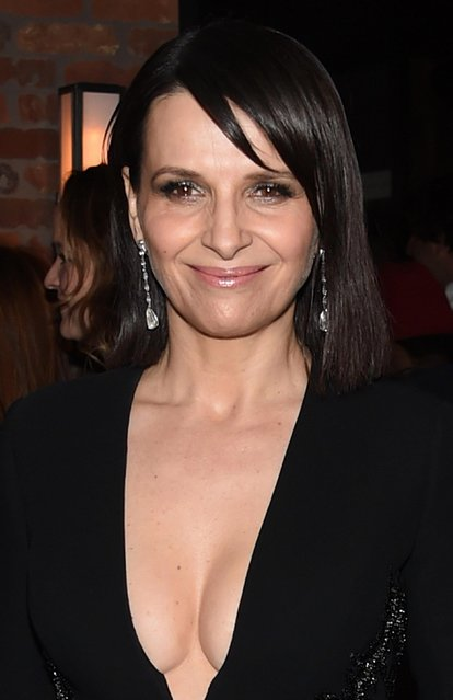 """Juliette Binoche attends the """"Ghost In The Shell"""" premiere after party hosted by Paramount Pictures & DreamWorks Pictures at The Ribbon on March 29, 2017 in New York City. (Photo by Jamie McCarthy/Getty Images)"""
