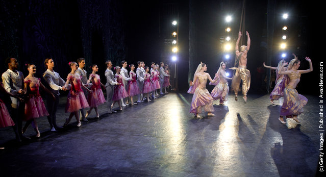 Dancers of the English National Ballet perform The Nutcracker at the Coliseum