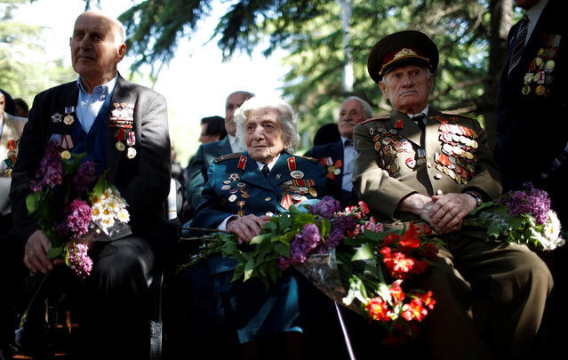 World War Two veterans attend Victory Day commemorations in Tbilisi, Georgia, May 9, 2016. (Photo by David Mdzinarishvili/Reuters)