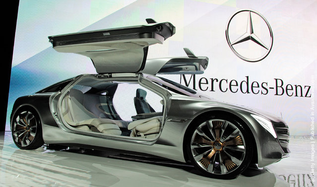 A Mercedes-Benz F125! gullwing coupe research car