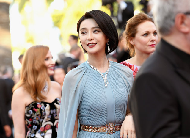 """Jury member Fan Bingbing attends the """"Ismael's Ghosts (Les Fantomes d'Ismael)"""" screening and Opening Gala during the 70th annual Cannes Film Festival at Palais des Festivals on May 17, 2017 in Cannes, France. (Photo by Pascal Le Segretain/Getty Images)"""