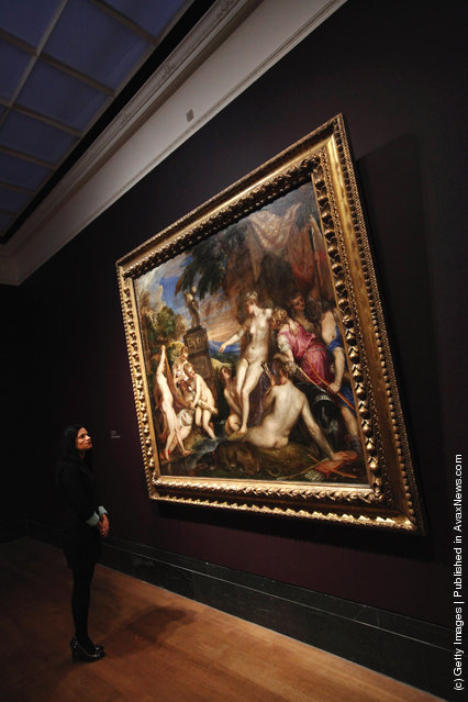 Diana And Callisto oil painting by Venetian artist Titian