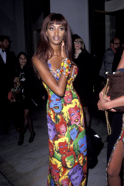 Naomi Campbell at the 5th Annual California Fashion Industry Friends of Aids Project Los Angeles Benefit Honors Designer Gianni Versace, 1991. (Photo by Jim Smeal/WireImage)