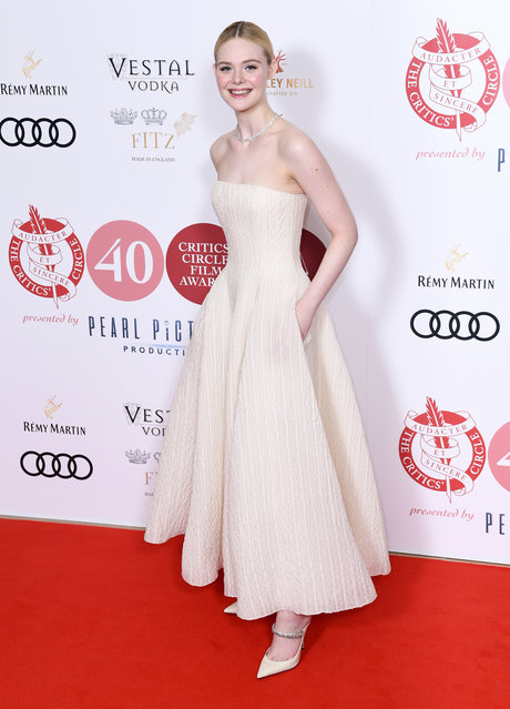 Elle Fanning attends the London Critics' Circle Film Awards 2020 at The May Fair Hotel on January 30, 2020 in London, England. (Photo by Gareth Cattermole/Getty Images)
