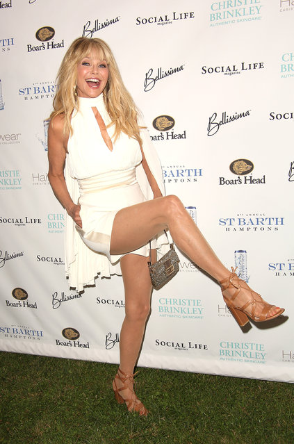 Christie Brinkley attends the 6th Annual St. Barth Hamptons Gala  at the Bridgehampton Historical Museum on July 22, 2017 in Bridgehampton, New York. (Photo by Sonia Moskowitz/Getty Images)