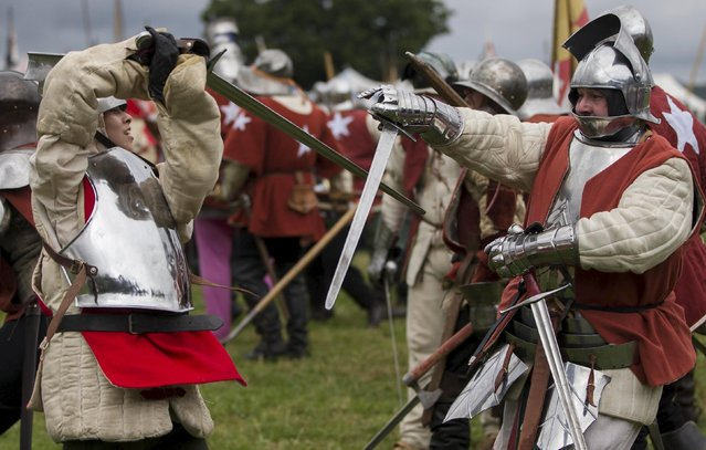 Historical re-enactors recreate the Battle of Bosworth at an anniversary event near Market Bosworth in central Britain, August 23, 2015. (Photo by Neil Hall/Reuters)