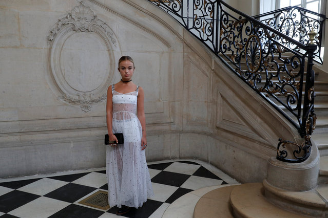 Lady Amelia Windsor poses during a photocall before the Spring/Summer 2018 women's ready-to-wear collection show for fashion house Dior during Paris Fashion Week, France, September 26, 2017. (Photo by Philippe Wojazer/Reuters)