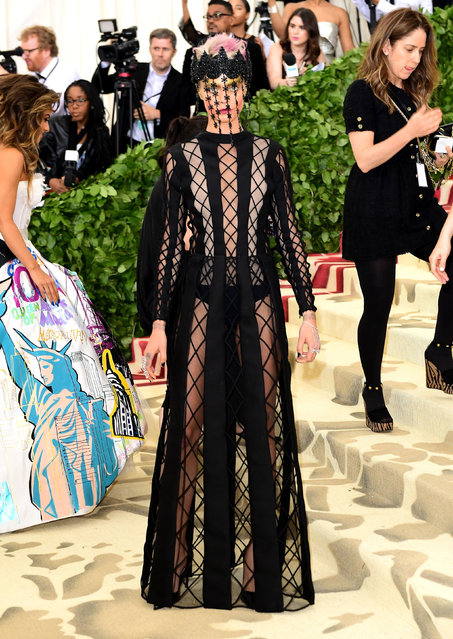 Cara Delevingne attending the Metropolitan Museum of Art Costume Institute Benefit Gala 2018 in New York, USA on May 7, 2018. (Photo by Ian West/PA Wire Press Association)