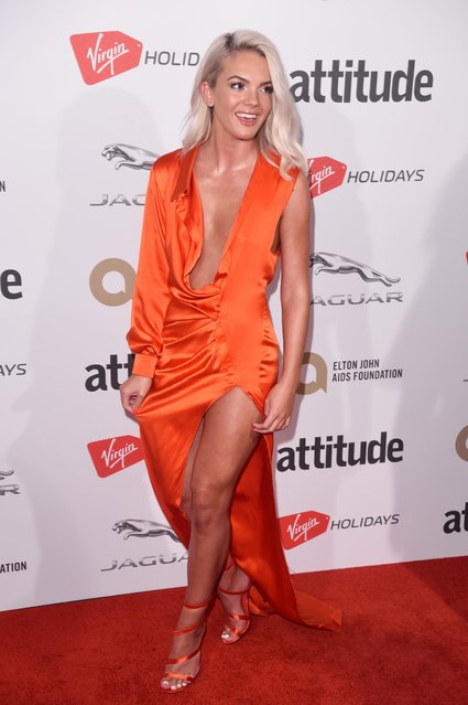 Louisa Johnson attending the Attitude Magazine Awards on October 12, 2017 in London, England. (Photo by David Fisher/Rex Features/Shutterstock)