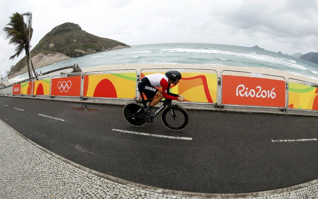 2016 Rio Olympics, Cycling Road, Final, Men's Individual Time Trial, Pontal, Rio de Janeiro, Brazil on August 10, 2016. Fabian Cancellara (SUI) of Switzerland competes. (Photo by Eric Gaillard/Reuters)
