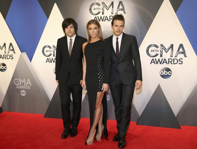 The Band Perry arrives at the 49th Annual Country Music Association Awards in Nashville, Tennessee November 4, 2015. (Photo by Jamie Gilliam/Reuters)