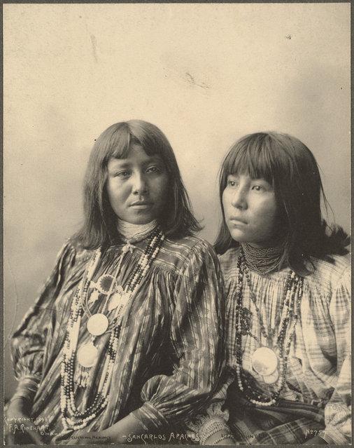 Brushing Against, Little Squint Eyes, San Carlos Apaches, 1899. (Photo by Frank A. Rinehart)