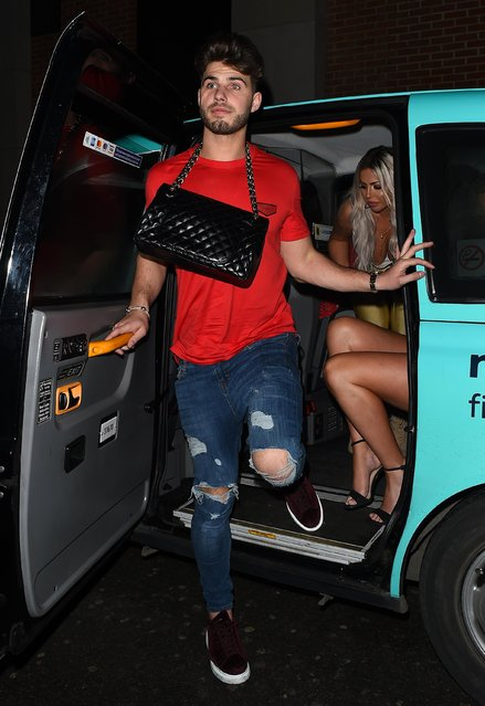 Charlotte's boyfriend Joshua Ritchie leaving Lucky Voice karaoke club on March 28, 2018 in London, England. (Photo by Splash News and Pictures)