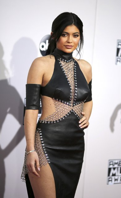 Television personality Kylie Jenner arrives at the 2015 American Music Awards in Los Angeles, California November 22, 2015. (Photo by David McNew/Reuters)