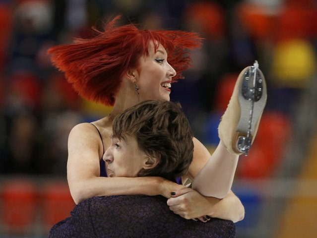 Figure Skating, ISU Grand Prix Rostelecom Cup 2016/2017, Ice Dance Short Dance, Moscow, Russia on November 4, 2016. Tiffany Zahorsky and Jonathan Guerreiro of Russia compete. (Photo by Grigory Dukor/Reuters)