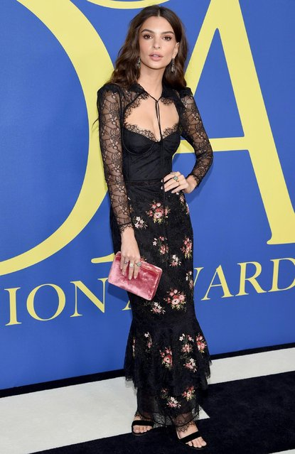 Emily Ratajkowski attends the 2018 CFDA Fashion Awards at Brooklyn Museum on June 4, 2018 in New York City. (Photo by Dimitrios Kambouris/Getty Images)
