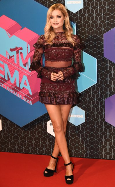 Laura Whitmore attends the MTV Europe Music Awards 2016 on November 6, 2016 in Rotterdam, Netherlands. (Photo by Anthony Harvey/Getty Images for MTV)