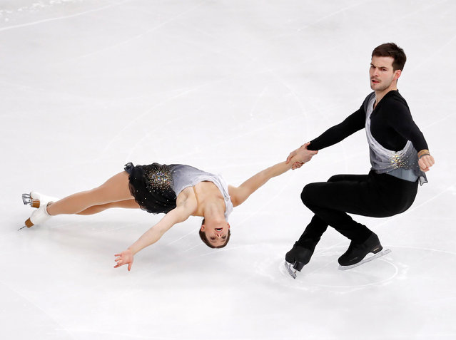 Figure Skating, ISU Grand Prix of Figure Skating Trophee de France 2016/2017, Pairs Short Program, Paris, France on November 11, 2016. Miriam Ziegler and Severin Kiefer of Austria perform. (Photo by Charles Platiau/Reuters)