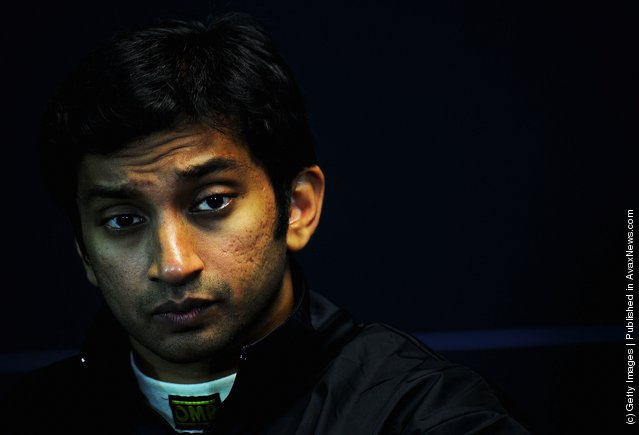 Narain Karthikeyan of India and Hispania Racing Team