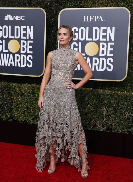 Emily Blunt arrives at the 76th annual Golden Globe Awards at the Beverly Hilton Hotel on Sunday, January 6, 2019, in Beverly Hills, Calif. (Photo by Mike Blake/Reuters)