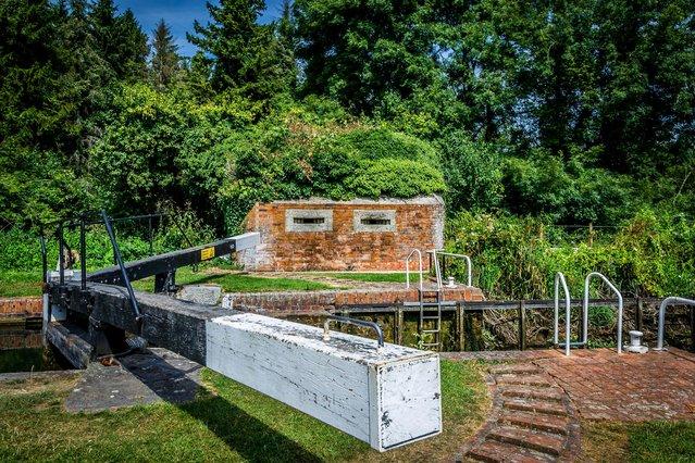Pillbox, Garston Lock, Kennett and Avon canal, Berkshire. (Photo by MediaDrumWorld.com)