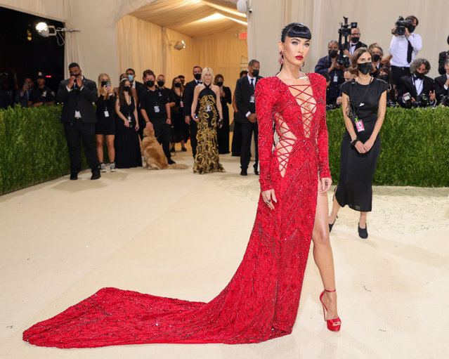 American actress and model Megan Fox attends The 2021 Met Gala Celebrating In America: A Lexicon Of Fashion at Metropolitan Museum of Art on September 13, 2021 in New York City. (Photo by Theo Wargo/Getty Images)