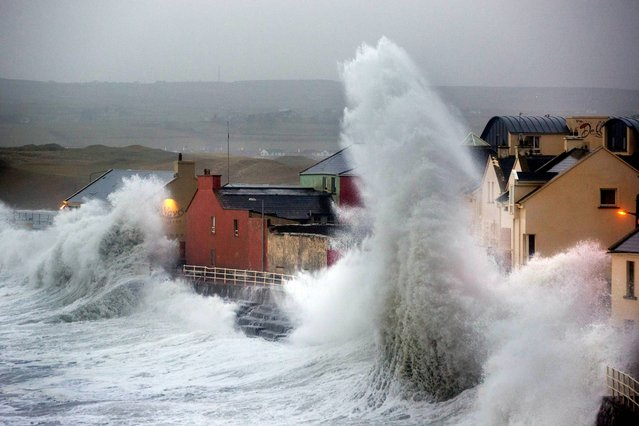 Storm Christine hits Lahinch in County Clare as high seas batter the county Clare town. (Photo by Sean Curtin Photo)