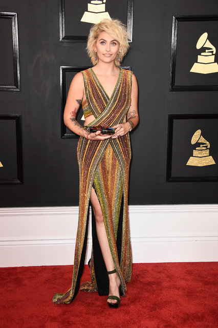 Paris Jackson attends The 59th GRAMMY Awards at STAPLES Center on February 12, 2017 in Los Angeles, California. (Photo by Frazer Harrison/Getty Images)