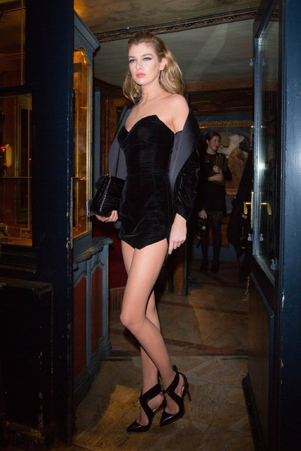 "Model Stella Maxwell arrives to attend the ""V Magazine"" dinner at Laperouse restaurant on March 7, 2017 in Paris, France. (Photo by FameFlynet)"
