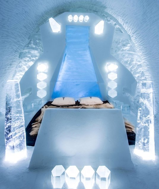 The hand-crafted suites have been newly designed by creatives from across the world. (Photo by Icehotel.com/Exclusivepix Media)