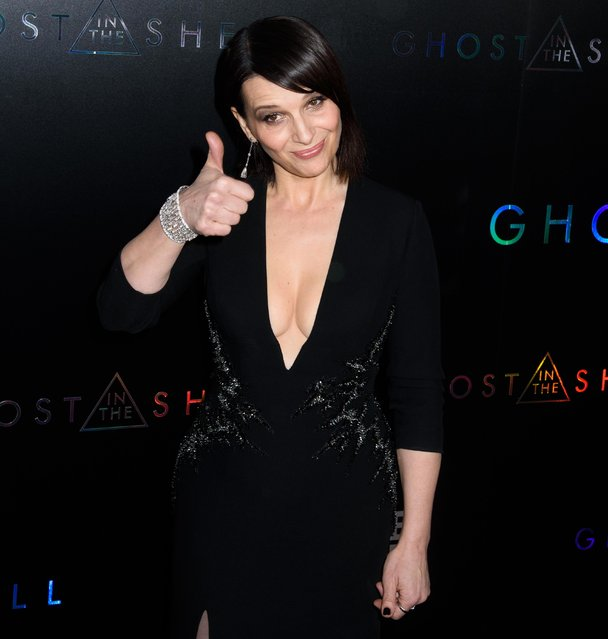 """Juliette Binoche attends the """"Ghost In The Shell"""" premiere after party hosted by Paramount Pictures & DreamWorks Pictures at The Ribbon on March 29, 2017 in New York City. (Photo by Splash News and Pictures)"""