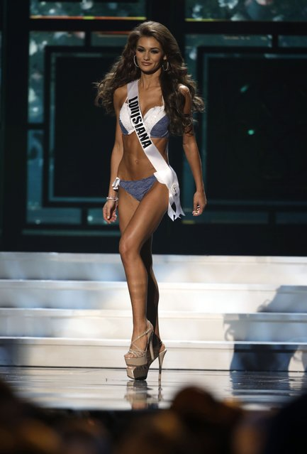 Miss Louisiana, Candice Bennatt, competes in the bathing suit competition during the preliminary round of the 2015 Miss USA Pageant in Baton Rouge, La., Wednesday, July 8, 2015. (Photo by Gerald Herbert/AP Photo)