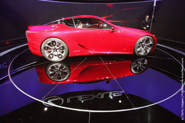 Lexus displays the LF-LC concept car during the media preview of the Chicago Auto Show at McCormick Place