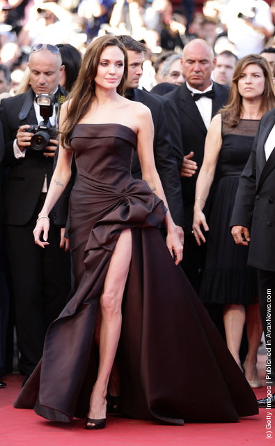 Actress Angelina Jolie attends 'The Tree Of Life' premiere during the 64th Annual Cannes Film Festival at Palais des Festivals