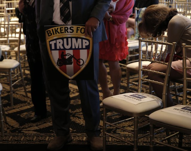 Supporters await the arrival of Republican U.S. presidential candidate Donald Trump at a campaign event on the day that several states held presidential primary elections, including California, at the Trump National Golf Club Westchester in Briarcliff Manor, New York, U.S., June 7, 2016. (Photo by Mike Segar/Reuters)