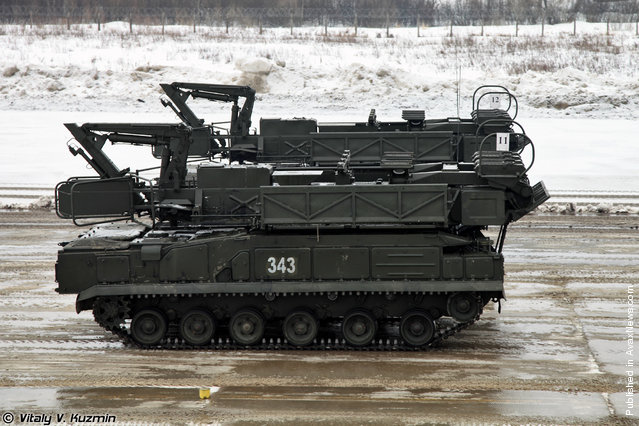 9A39M1 launcher-loader vehicle for Buk-M1-2 air defence system