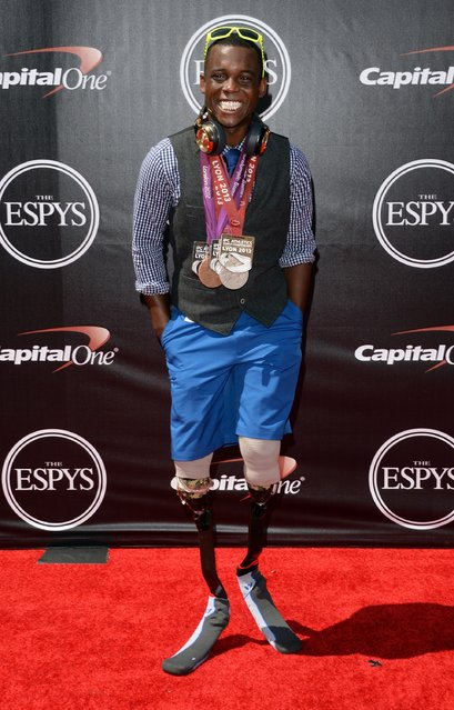 Paralympic athlete Blake Leeper attends The 2014 ESPYS at Nokia Theatre L.A. Live on July 16, 2014 in Los Angeles, California. (Photo by Jason Merritt/Getty Images)